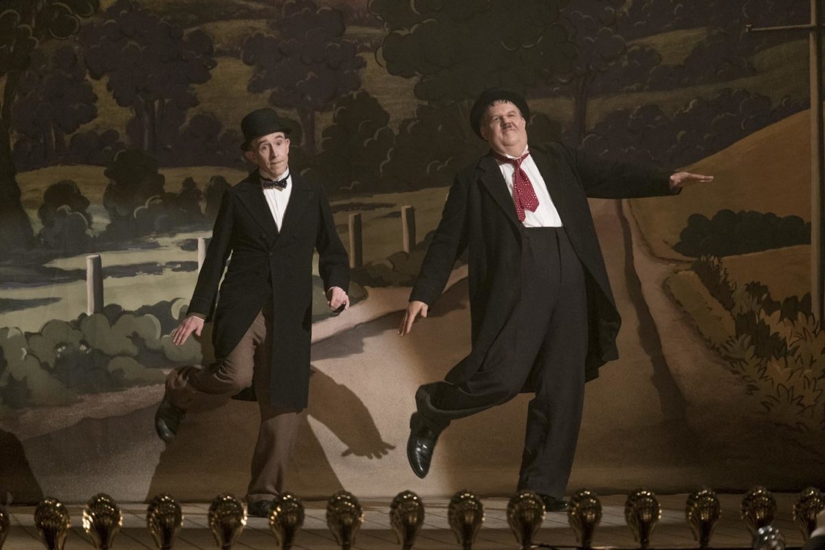Laurel and Hardy dance onstage