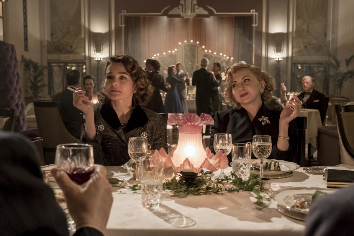 Shirley and Lucille at dinner