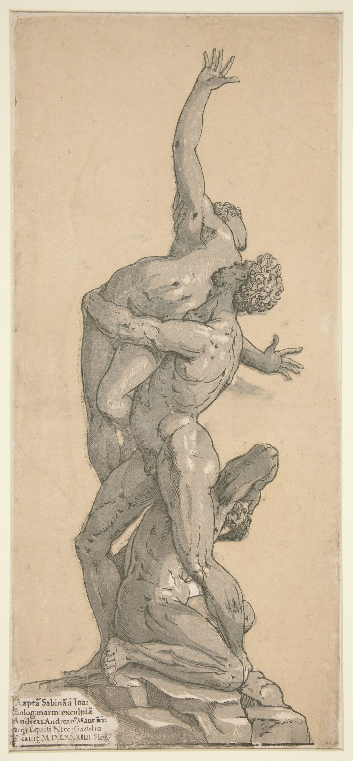 Three figures Rape of Sabine Classical Art