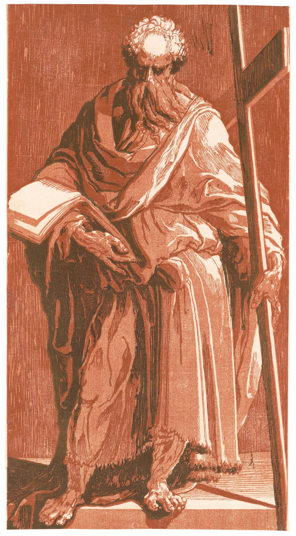 Saint Philip Man Standing with cross