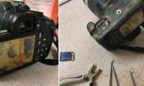 Couple found camera covered in sand on beach. Everyone was flabbergasted to see what it contained