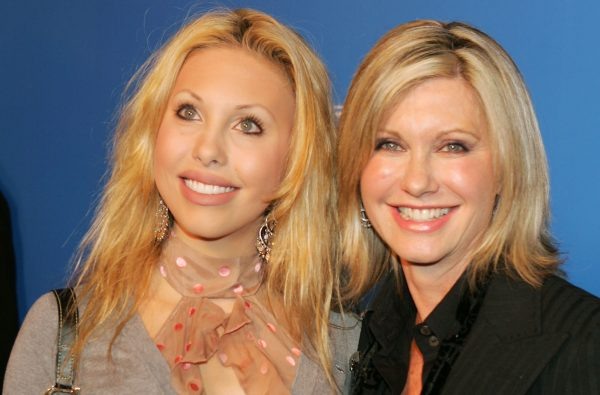 Singer Olivia Newton John is with her daughter