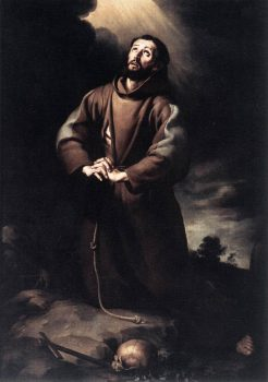 St. Francis of Assisi at Prayer, by Bartolomé Esteban Murillo.