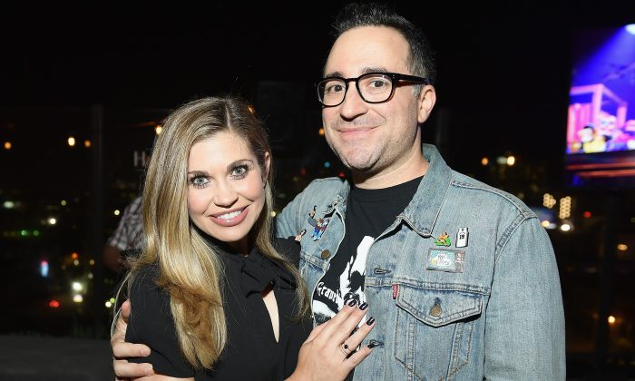 Danielle Fishel (L) and executive producer Jensen Karp at TBS' Drop the Mic and The Joker's Wild Premiere Party at Dream Hotel in Hollywood, Calif., on Oct. 11, 2017. (Matt Winkelmeyer/Getty Images for TBS)