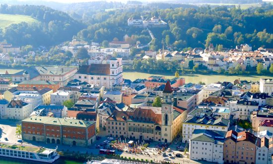 Passau, situated at the confluence of the rivers Danube, Inn, and Ilz. (Susan James)