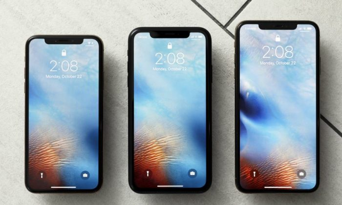 File photo shows the iPhone XS, from left, iPhone XR, and the iPhone XS Max in New York on Oct. 22, 2018.  (Richard Drew, AP File Photo)