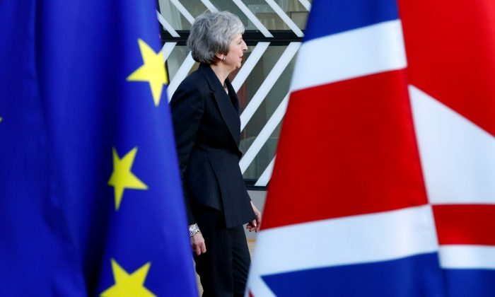 British Prime Minister Theresa May arrives at a European Union leaders summit in Brussels on Dec. 13, 2018. (Reuters/Francois Lenoir/File Photo)