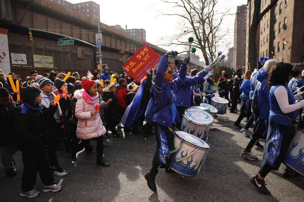 Children in the Three Kings Day Parade
