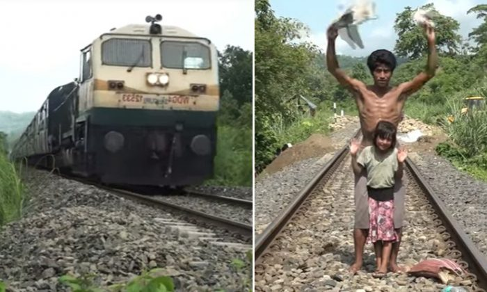 Train With 2,000 Passengers Saved From From Crashing by Dad and Daughter