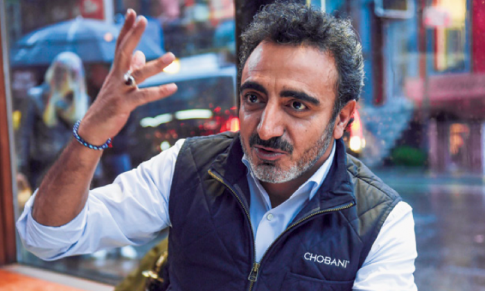 Hamdi Ulukaya, CEO of Chobani, during an interview in New York on Nov. 17, 2014. (DON EMMERT/AFP/GETTY IMAGES)