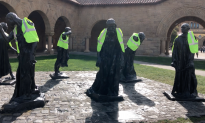 Rodin Sculptures at Stanford Don Yellow Vests During Newsom's Inauguration