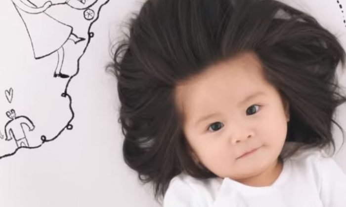 Chanco became a hair model at age 1 after going viral (Pantene YouTube)