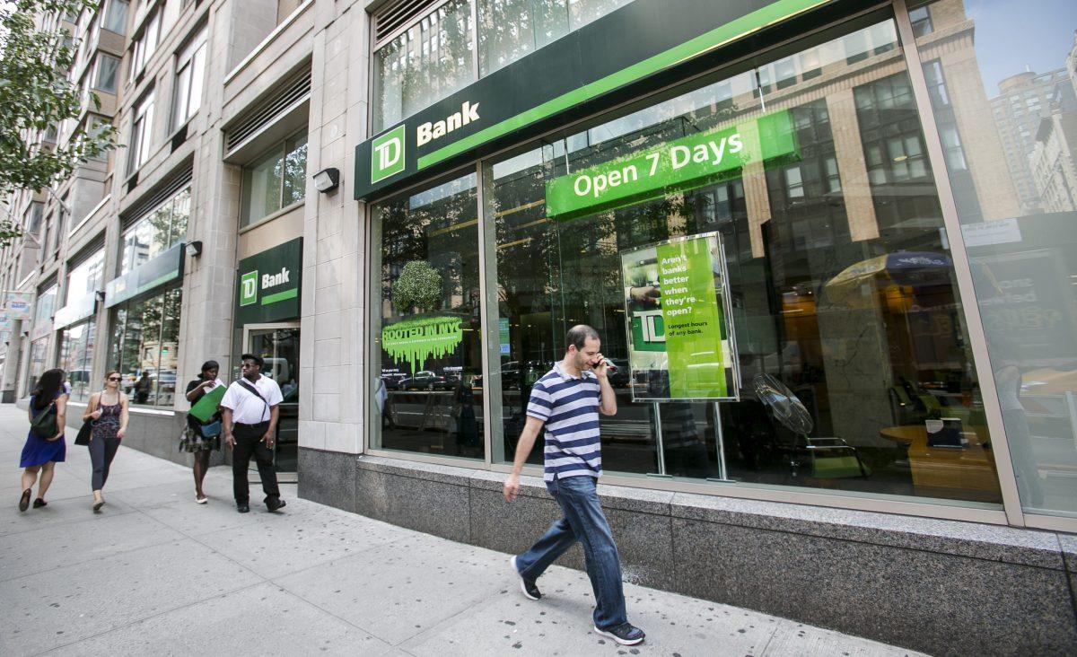 TD bank in the Chelsea neighborhood in Manhattan