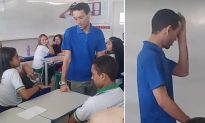 Unpaid Homeless Teacher Reads Notes in Classroom Unaware of Epic Upcoming Surprise