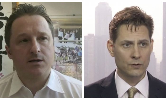 Canadians Michael Spavor (L) and Michael Kovrig are currently being detained in China. (AP Photo)