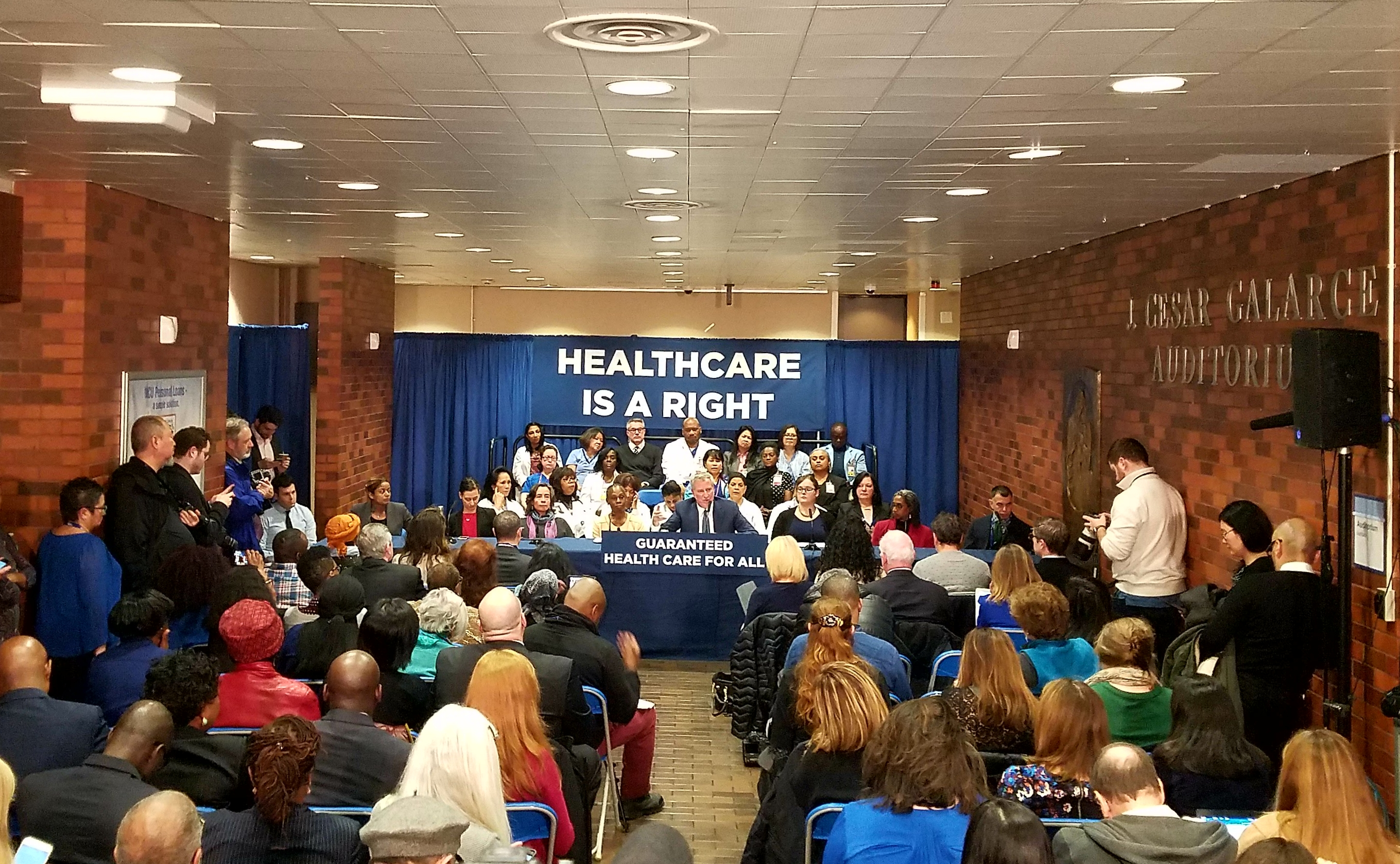 Mayor Bill de Blasio announces NYC Care