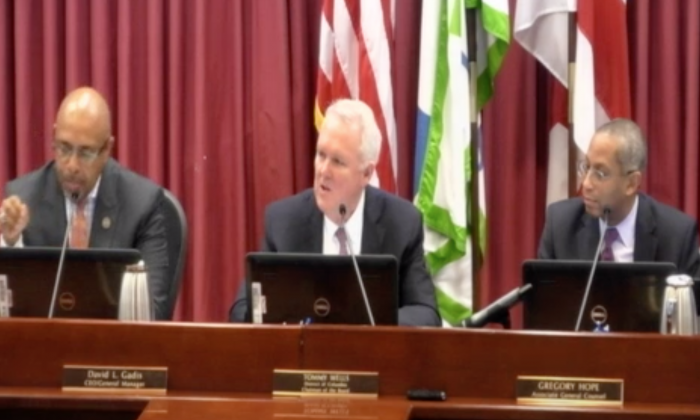 Members of the DC Water Board joked about cutting off water to the White House in their first meeting on Jan. 3, 2019. (Screenshot from DC Water)
