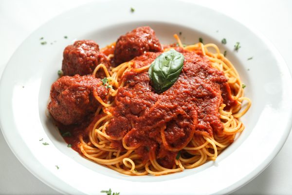 Spaghetti and meatballs from Patsy's Italian Restaurant