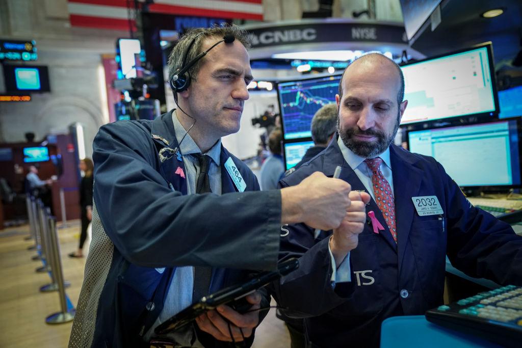 Traders and financial professionals at NYSE