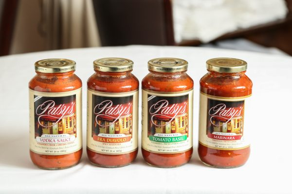jars of tomato sauce from Patsy's italian restaurant