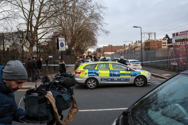 The scene in Waltham Forest where a 14-year-old boy died after being stabbed