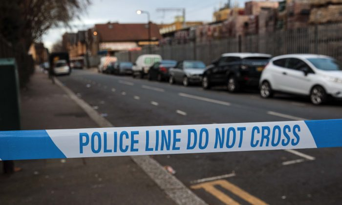 The scene in Waltham Forest where a 14-year-old boy died after being stabbed in London, on Jan 9, 2019. (Jack Taylor/Getty Images)