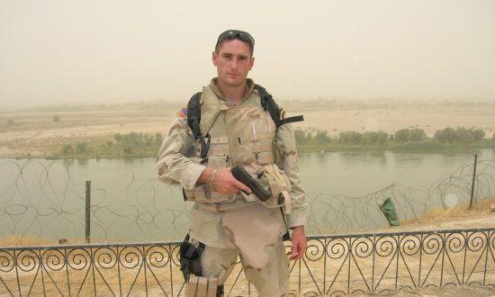 Monroe Mann on his deployment in Iraq. (Courtesy of Monroe Mann)