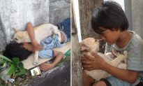 Homeless Boy Who Depends on Stray Pup for 'Family Love' Is Now Going Back to School