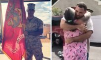 Marine Son Seeks Police Help to Surprise Mom With Unforgettable Homecoming After 4 Years