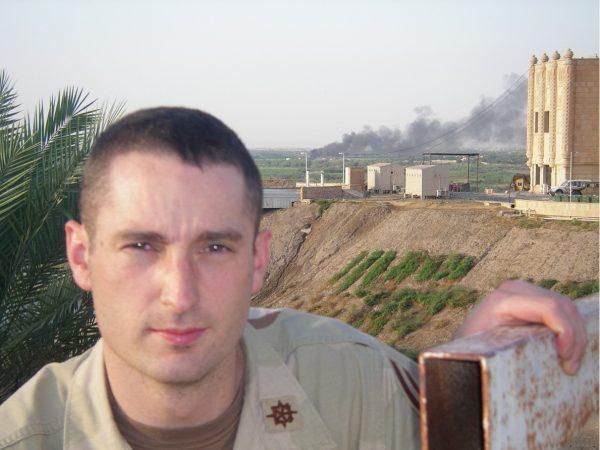 Mann on deployment in Iraq
