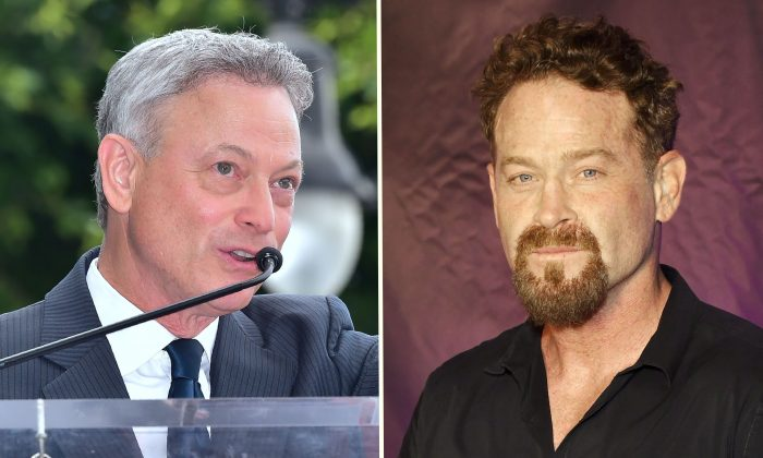 (L) Actor Gary Sinise during his Walk of Fame Star ceremony in Hollywood, Calif., on April 17, 2017. (Frederic J. Brown/AFP/Getty Images); (R) Actor Max Martini attends the premiere of 'Bigger' at the Orleans Arena in Las Vegas, Nevada on Sept. 13, 2018. (Ethan Miller/Getty Images)