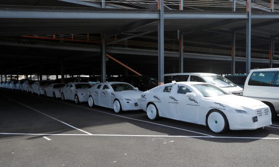 Jaguar cars ready for export are parked on the dockside at a port in Southampton, United Kingdom, on Aug. 16, 2017. (Reuters/Peter Nicholls/File Photo)