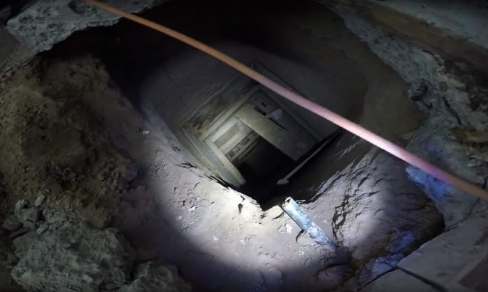 A border tunnel running from Mexico to the United States in a file photo. (Yuma Sector Border Patrol)