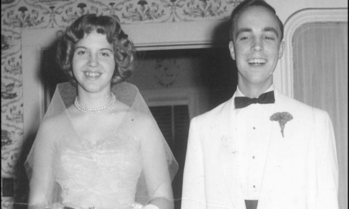 High school sweethearts Barbara Cotton and Curtis Brewer at their prom in 1961. (Barb and Curtis RV Fund/GoFundMe)