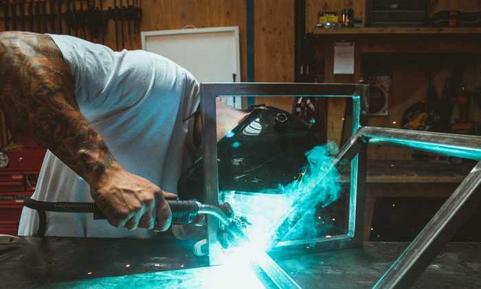 Researchers found that metal exposure was associated with a four-fold increase in risk for atrial fibrillation. That risk could be minimized by working in well-ventilated areas, and wearing protective equipment. (Dane Deaner/Unsplash)
