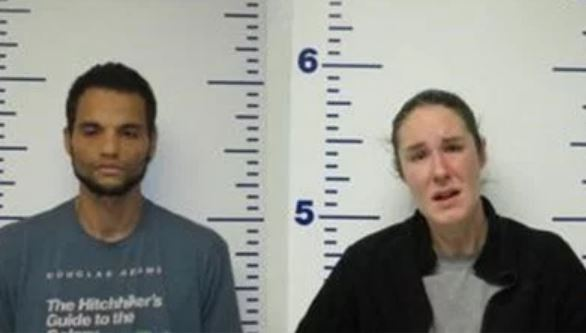 Justin Lastra, left, and Michelle King. (Guthrie Police Department)