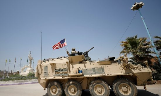 A U.S military vehicle in the town of Amuda, northern Syria April 29, 2017. (Rodi Said/File Photo/Reuters)