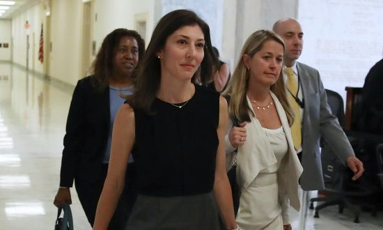 Former FBI Lawyer Lisa Page arrives to testify before a House Judiciary Committee closed-door meeting on July 13, 2018. (Mark Wilson/Getty Images)