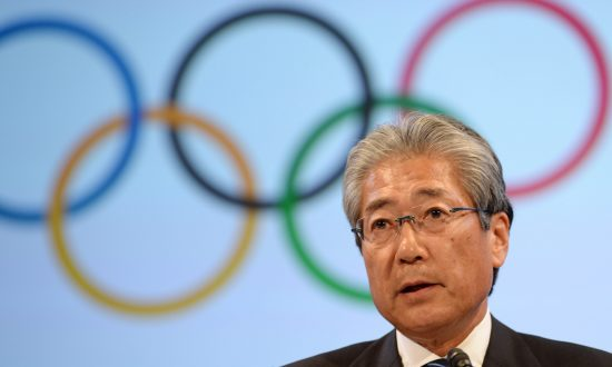 Japanese Olympic Comitee President Tsunekazu Takeda in Tokyo on June 13, 2014. (Atsushi Tomura/Getty Images)