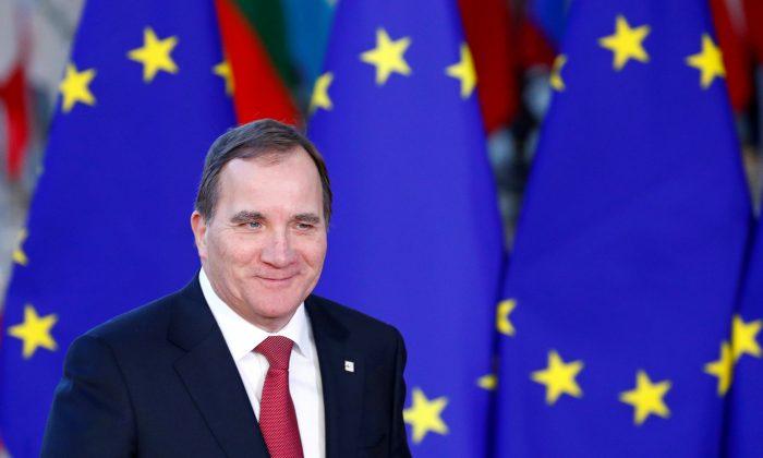 Sweden's Prime Minister Stefan Lofven arrives at a European Union leaders summit in Brussels on Dec. 13, 2018. (Francois Lenoir/Reuters)