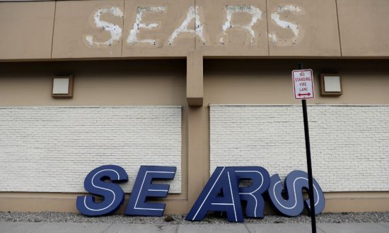 A dismantled sign sits leaning outside a Sears department store one day after it closed as part of multiple store closures by Sears Holdings Corp in the United States in Nanuet, New York, U.S., January 7, 2019. (Mike Segar/Reuters)