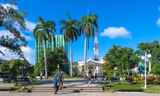 Leoncio Vidal park which is a Cuban National Monument and a tourist attraction in Santa Clara, VILLA CLARA, CUBA ,on Nov.07,2018 