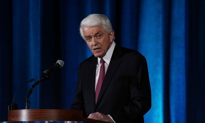 U.S. Chamber of Commerce President and CEO Thomas Donohue speaks during the Indo-Pacific Business Forum at the U.S. Chamber of Commerce in Washington on July 30, 2018. (Alex Wong/Getty Images)