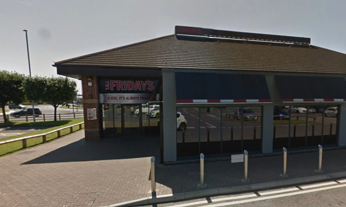 TGI Fridays restaurant in Stockton. (Screenshot/Googlemaps)