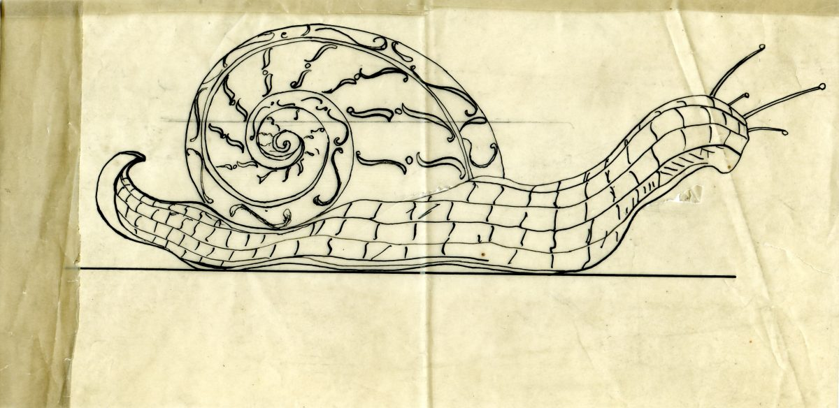 Classical snail Tiffany & Co. drawing