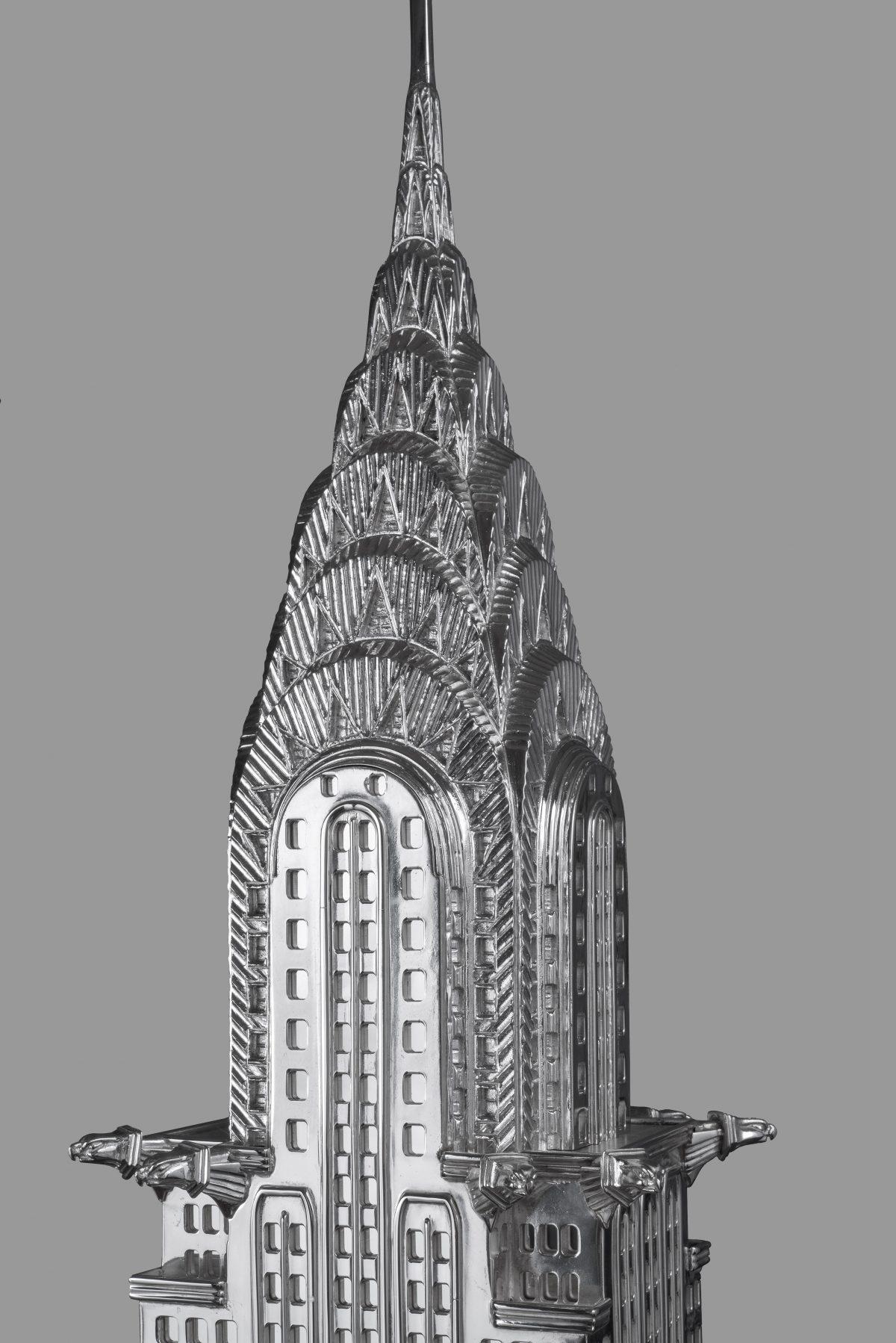 Chrysler building New York sterling sliver