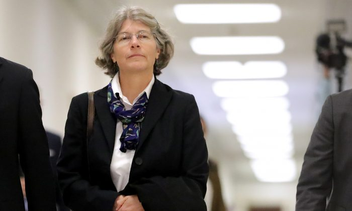 Nellie Ohr arrives for a closed-door interview with investigators from the House Judiciary and Oversight committees on Capitol Hill on Oct. 19, 2018. (Chip Somodevilla/Getty Images)