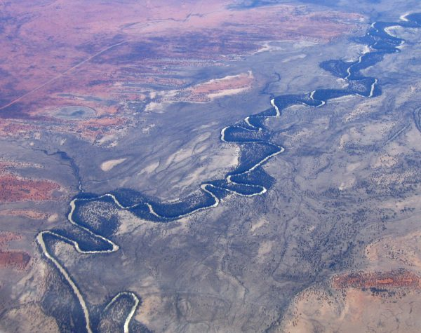 aerial view of darling river