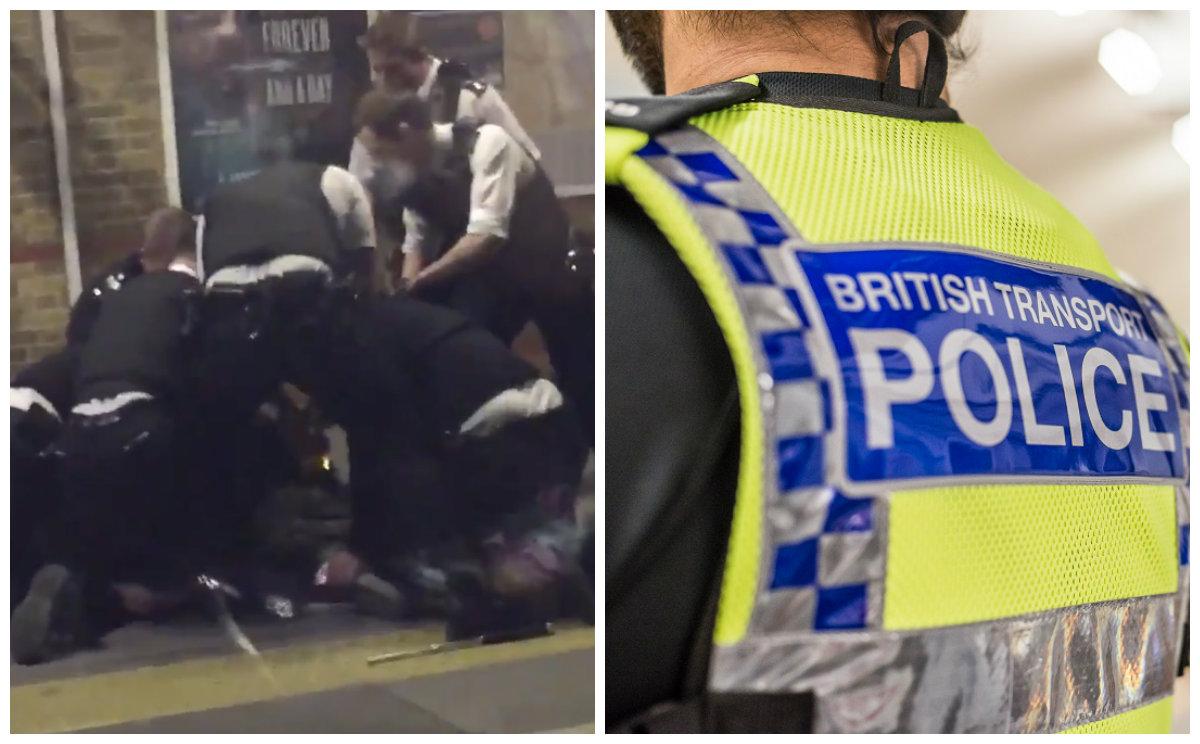 Machete-Wielding Man Tasered by Police on London Train Platform