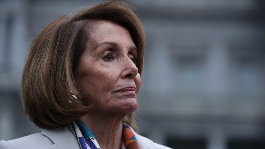 Group goes to Nancy Pelosi house